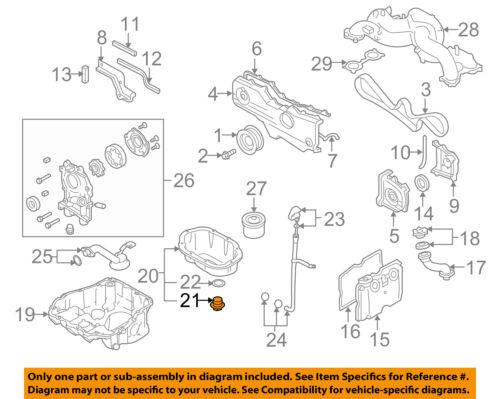 SUBARU OEM 10-12 Legacy Engine Parts-Drain Plug 807016160