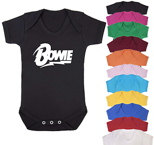 67dc2e35c2b Bowie Music Inspired Baby Vest Babygrow Baby Shower Music fan Baby ...