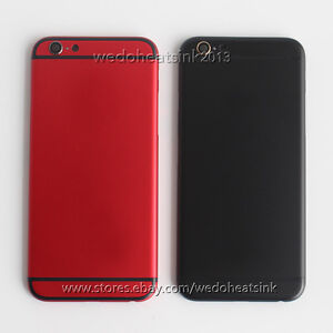 a79fea6de861 Red   Black Replace Housing Back Battery Door Cover for iPhone 6 ...