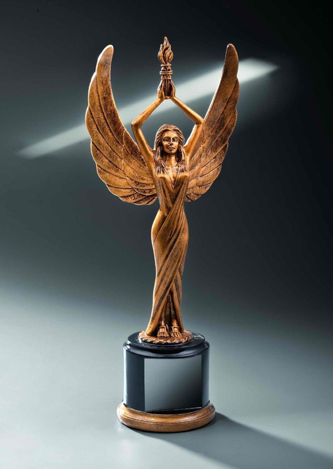 3 Siegesgöttin Figuren Resin Pokal 35cm (Pokale Wanderpokal Jubiläum Sieger ABI)