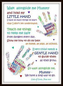 personalised daughter son mum mom mummy poem mother day birthday