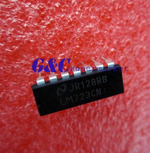 5PCS  LM723CN LM723 DIP-14 IC Adj. Voltage Regulator 2-37V NEW GOOD QUALITY