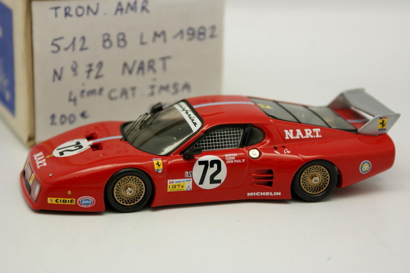 AMR tron kit assembled 1 43 - ferrari 512 BB n º 72 le mans 1982 nart