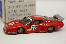 AMR Tron Set Aufgebaut 1/43 - Ferrari 512 BB Nr.72 Le Mans 1982 NART