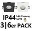 LED Einbaustrahler Rahmen GU10 Fassung 3//6 Pack Set IP44 Eckig Einbauleuchte EDO