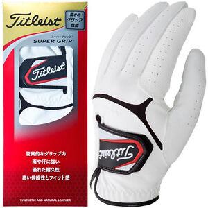 Titleist-JAPAN-Golf-Glove-Super-Grip-for-Left-hand-TG37-White-Black-New