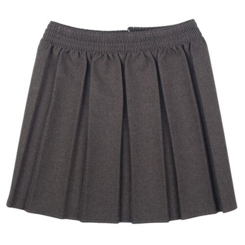 Ragazze pince quadrata sulle tutti ROUND Elasticizzata Gonne School Uniform Kids AGE 2-18 Anni