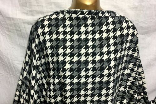 NEW M//Weight  Polyester White-Black Dogtooth Print Dress//Craft Fabric FREE P/&P