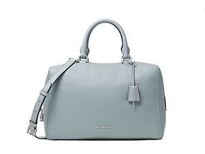 e892ea7cf204c9 Details about NWT MICHAEL Michael Kors Kirby Large Satchel 100% Authentic  Blue/Rose Retail$348