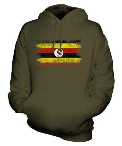 Ouganda Drapeau Délavé Sweat à Capuche Unisexe Haut Maillot de Football Cadeau