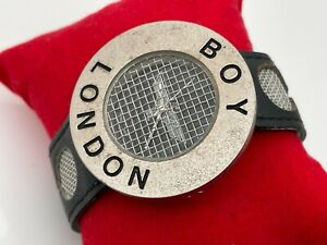 Boy London Wristwatch Black Leather Band Analog Boys Watch Authentic