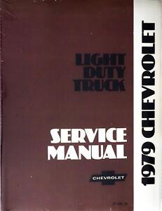 1979 Chevy Camioneta Suburban Blazer Van Tienda Manual De Servicio Reparacion Reimpresion Ebay