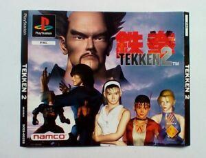 * Incrustation Avant Seulement * Tekken 2 Big Box Edition Incrustation Avant Ps1 Psone Playstation-afficher Le Titre D'origine Style à La Mode;