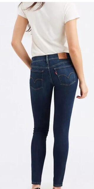 Levi's Damen dunkelblau 710 Super Skinny Jeans
