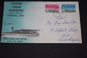 MALAYSIA-1965-INTERNATIONAL-AIRPORT-FIRST-DAY-COVER