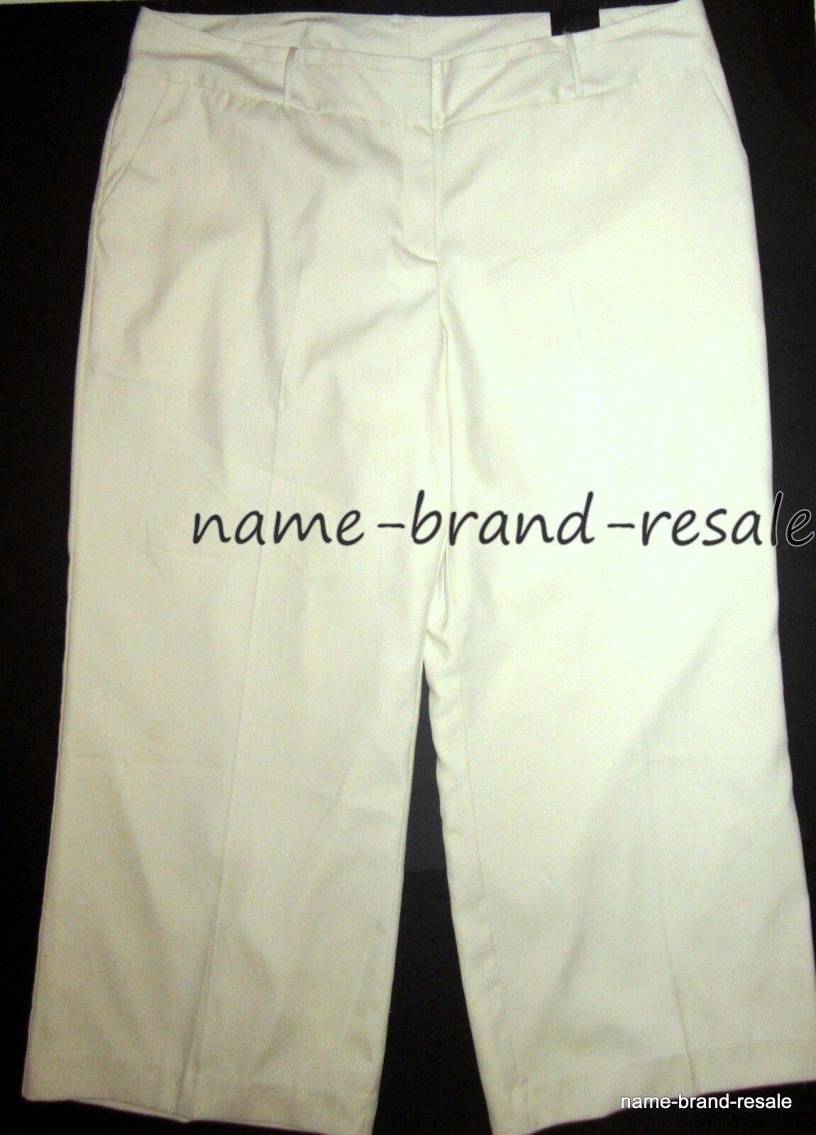 LANE BRYANT NWT Womens PLUS 26 Cream Wide Leg Lined Trouser Pants The Lena Curvy