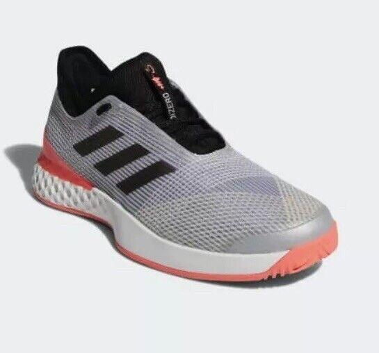 Adidas Hombre Talla 10.5 Adizero ubersonic 3 Calzado para Tenis mattePlata flashrojo CP8853