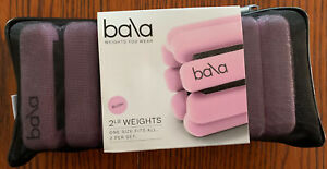 LIMITED-EDITION-Bala-Bangles-Wrist-Ankle-Weights-2-x-2lbs-Blush-Color-NEW