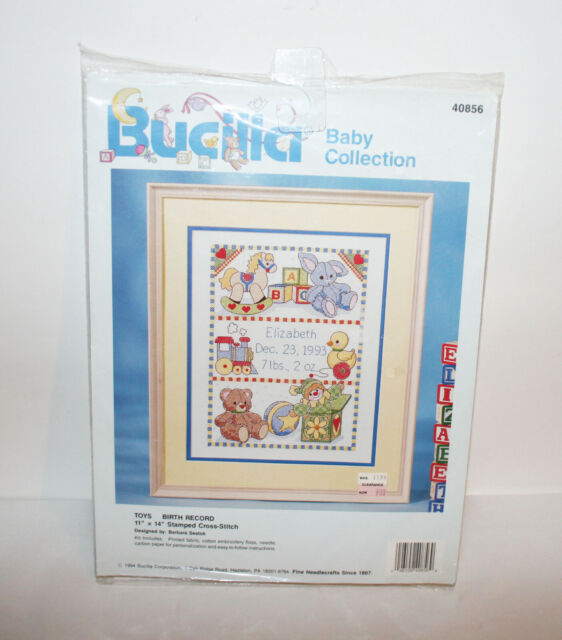 Counted Cross Stitch Kit Baby With Toy Rabbit