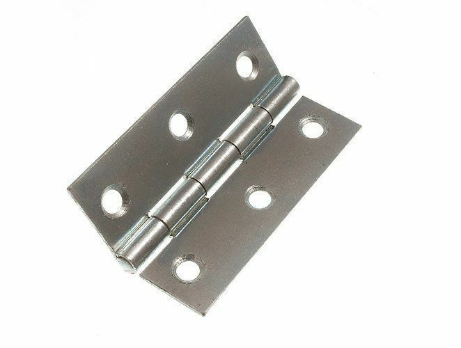NEW BUTT HINGE ( DOOR GATE ) BZP ZINC PLATED STEEL 75MM 3 INCH & SCREWS (20 PAIR