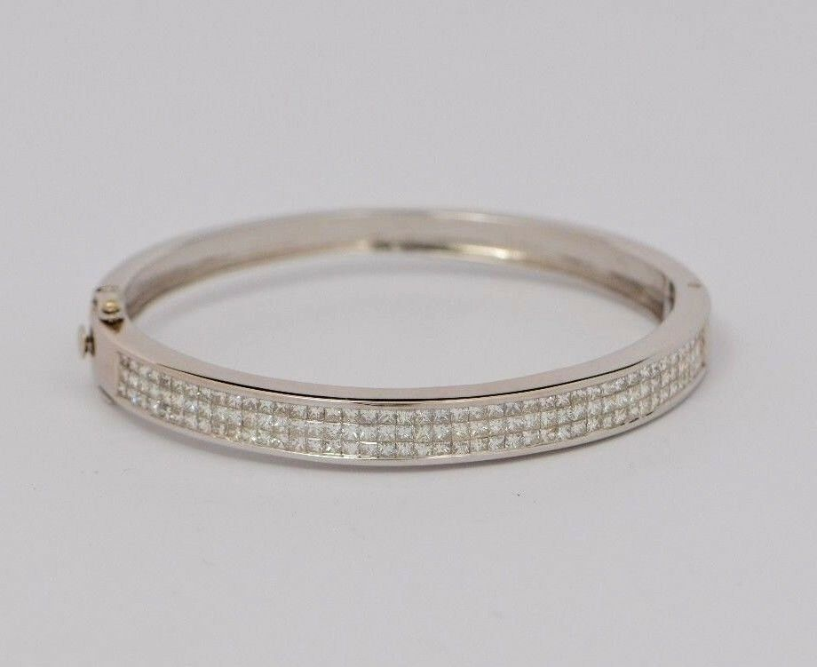 14k White gold Diamond Bracelet, High Quality