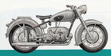 Zündapp - KS 601 - Grüner Elefant - Prospekt - 1953 - Deutsch - nl-Versandhandel