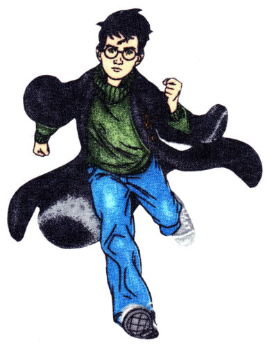 """5/"""" Harry potter running fabric applique iron on character"""