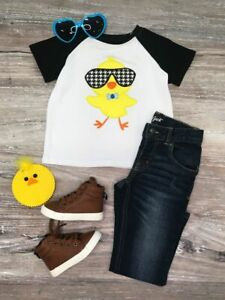 Boys-Toddler-Cool-Dude-Easter-Chick-Boy-039-s-Short-Sleeve-T-Shirt-2T-3T-4T-5-6-7-8