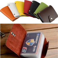 Portable 24Card ID Cash Credit Card Holder PU Leather Pocket Case Purse Wallet