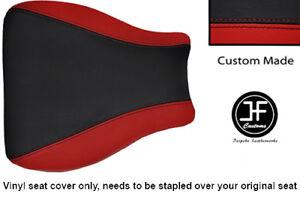 DARK-RED-BLACK-VINYL-CUSTOM-FOR-SUZUKI-HAYABUSA-GSX-1300-99-07-FRONT-SEAT-COVER