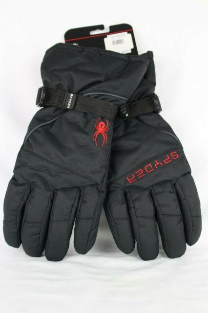 NWT Spyder $50 Performance Men/'s Gloves L//XL Ski Snowboarding Insulated Black