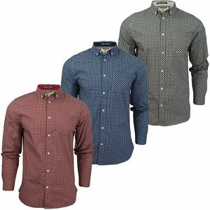 Mens-Gingham-Check-Shirt-by-Tokyo-Laundry-039-Newick-039-Long-Sleeved