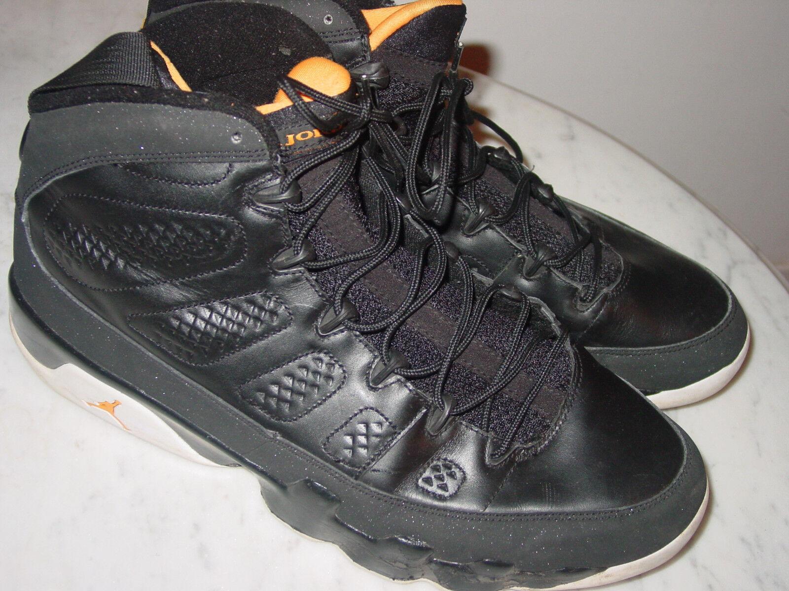 2018 Nike Air Jordan Retro 9 Black/Citrus/White Basketball Shoes! Size 13