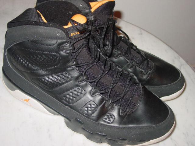 2010 Nike Air Jordan Retro 9 Black/Citrus/White Basketball Shoes! Size 13