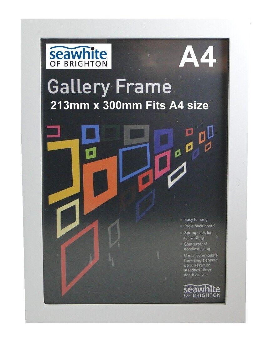 SeaBlanc  la Blanc de fixation A4 Cadres photo de la  Galerie Cadre Photo en Bois (1/3/5/10) fa8406