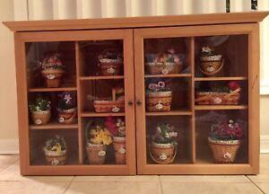 Image Is Loading Longaberger JW Mini Wall Cabinet Display Amp ALL