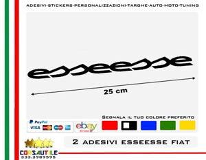 2-ADESIVI-ESSEESSE-ESSESSE-ABARTH-FIAT-500-595-695-STICKER-TUNING-ELABORAZIONE