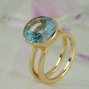 Ring-in-585-Rosegold-mit-1-Blautopas-7-39-ct-NEU-Gr-55