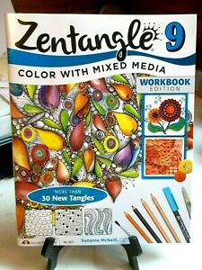 Zentangle-9-Color-With-Mixed-Media-Workbook-Edition-By-Suzanne-McNeill