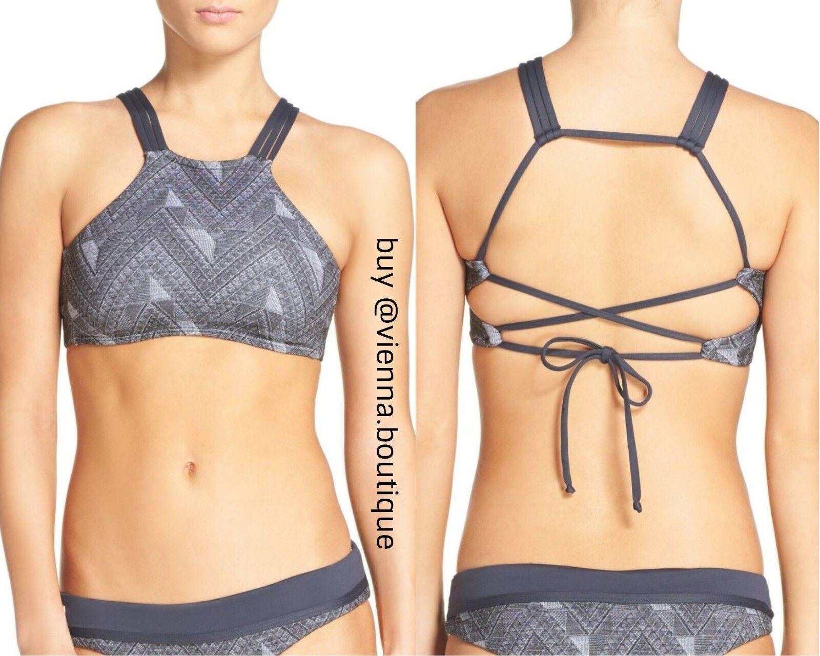 NEW MaajiJacquard Lofty Reversible Bikini Top [SZ Small ]  B775