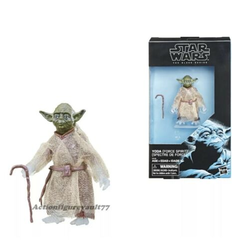 "Hasbro Star Wars The Black Series 6"" Force Ghost Yoda ROTJ Walmart Exclusive"
