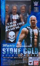 BANDAI S.H.FIGUARTS WWE STONE COLD STEVE AUSTIN ACTION FIGURE NEW