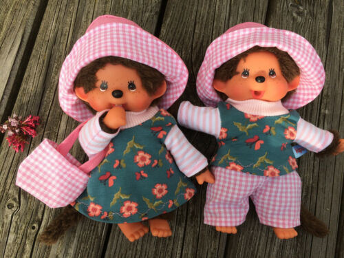 Abbigliamento per Monchichi ORSO tg 20 cm gemelli Twins abbigliamento FIORELLINI /& A QUADRI