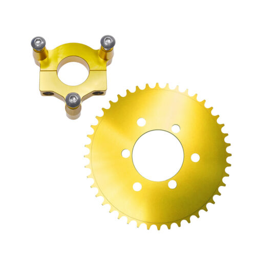 """Gold 44T CNC Sprocket With 1.5/"""" Adapter Fits 60cc 66cc 80cc Motorized Bicycle"""
