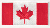 Calgary Flames Canadian Flag Shoulder Logo Jersey Patch Team Canada Country Nhl