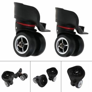 68308beaa Image is loading 1Pair-Replacement-Luggage-Suitcase-Wheels-Swivel-Universal
