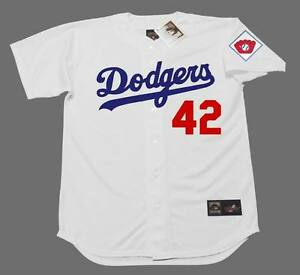 sports shoes 06ce1 51695 Details about JACKIE ROBINSON Brooklyn Dodgers 1951 Majestic Cooperstown  Home Baseball Jersey