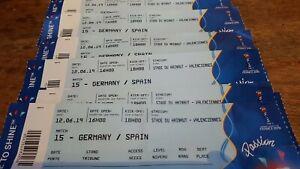 Ticket-Germany-Deutschland-Spain-Espana-World-Cup-2019-WM-WC-Game-15