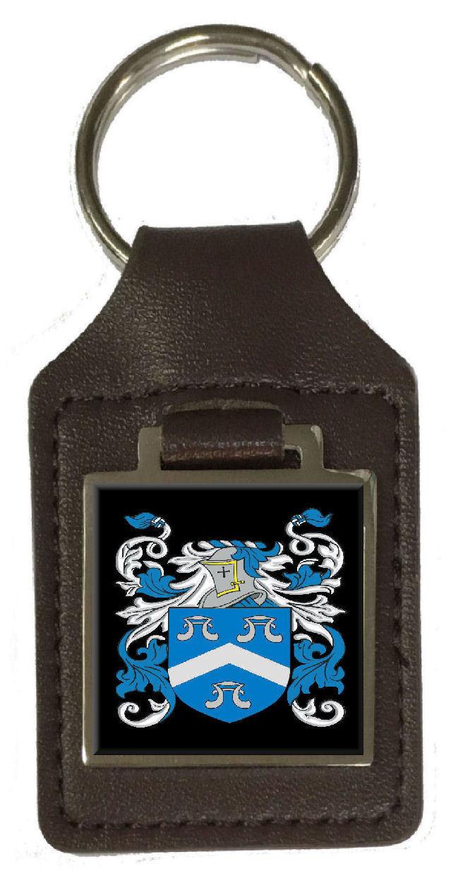 Macnair Familie Wappen Familienname Braunes Leder Schlüsselanhänger Graviert   Schenken Sie Ihrem Kind eine glückliche Kindheit