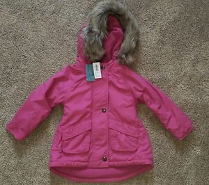 ac5e9088d NWT Old Navy Girls Toddler 2T Hot Pink Parka Coat Hooded Faux Fur ...